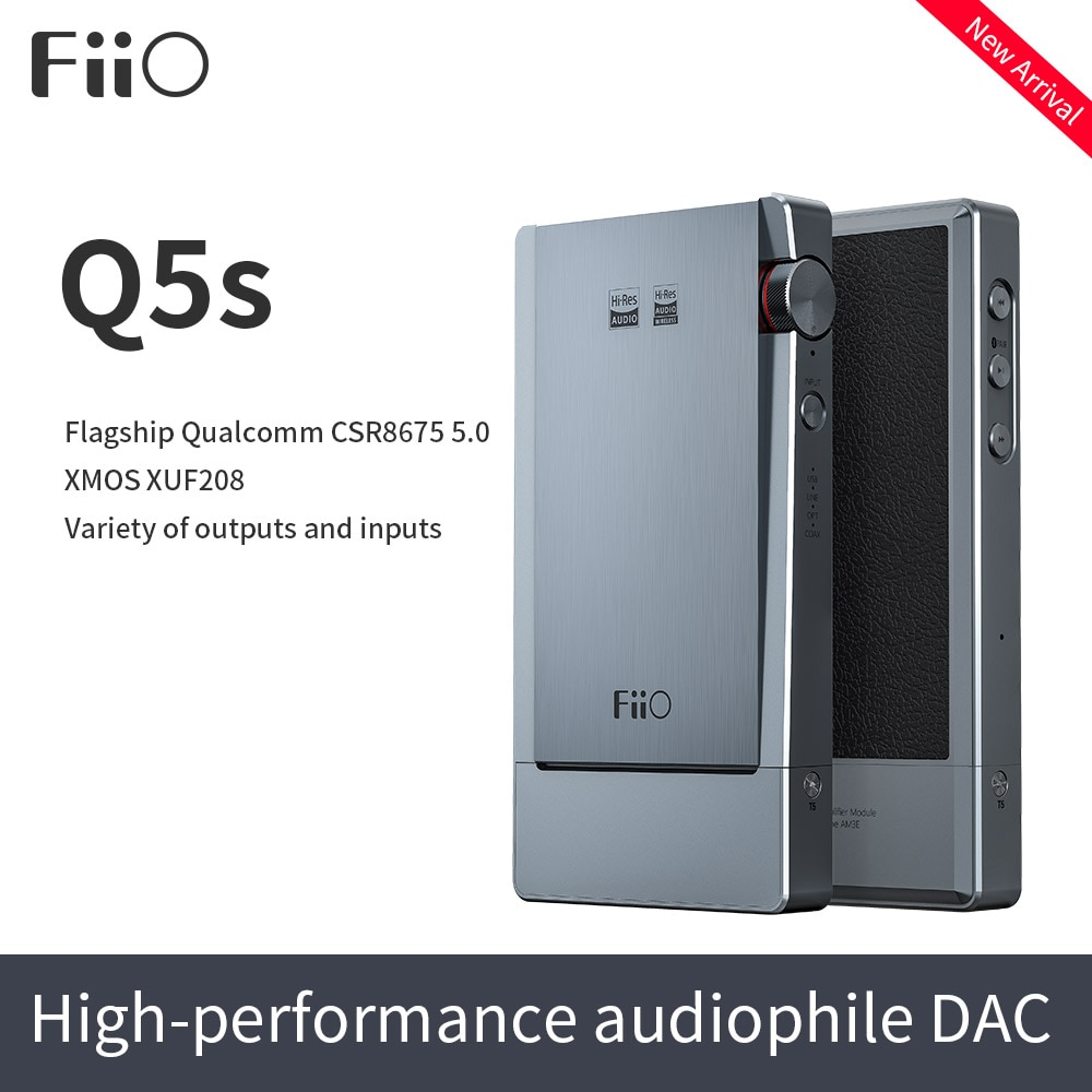 Get FiiO Q5s Bluetooth 5.0 AK4493EQ DSD-Capable DAC&Amplifier,USB DAC Amplifier for iPhone/computer/Android/Sony 2.5mm 3.5mm 4.4mm