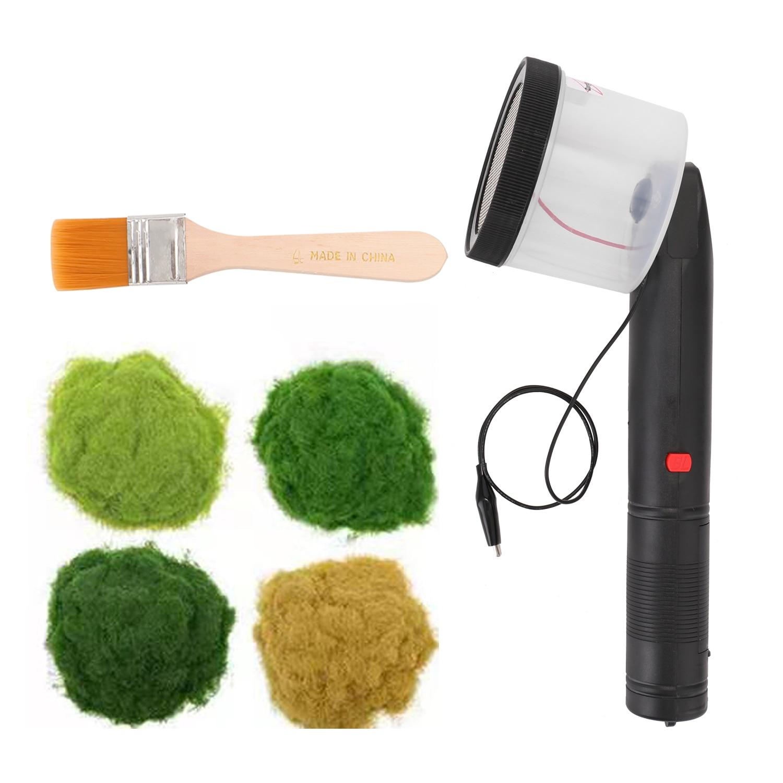 ABS عدم الانزلاق مقبض صغير ثابت العشب يتدفقون قضيب مع 4 ألوان من جراسبودرز لديي المناظر الطبيعية الخلابة النمذجة طاولة الرمل