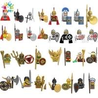 disney hero sparta soldier building blocks mini action figures bricks history educational toys for children christmas gifts