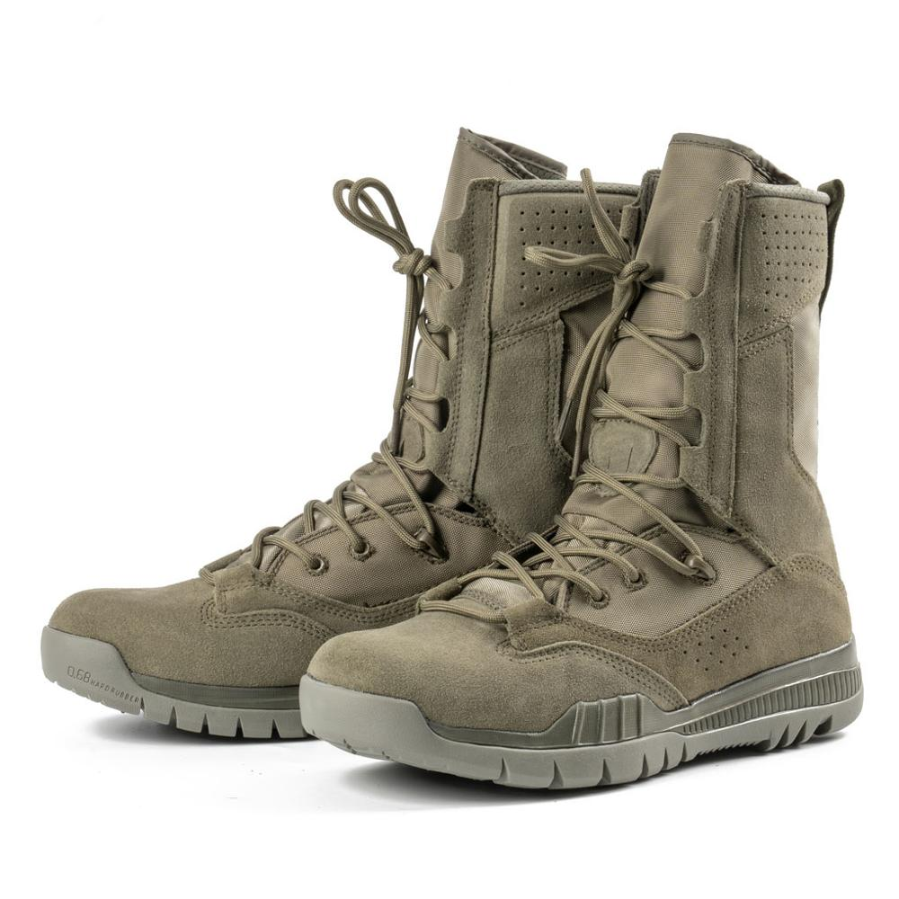 Army Boots Military Men Tactical Military Boots Sage Green Tactical Boots Men Rubber Mid-Calf Combat Boots Men