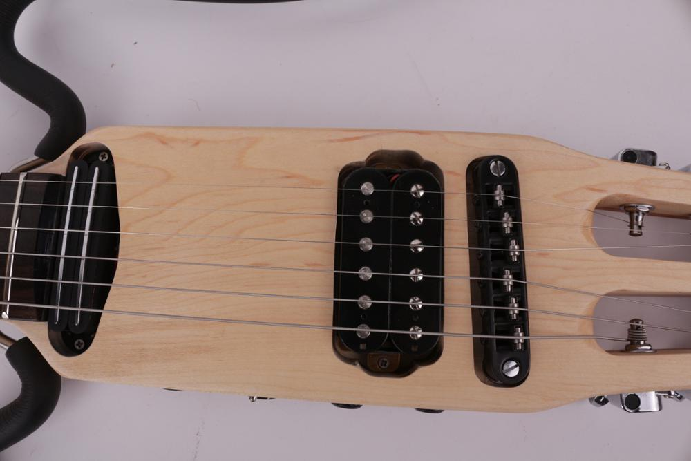Good quality headless electric silent travel guitar built in effect portable foldable free shipping enlarge