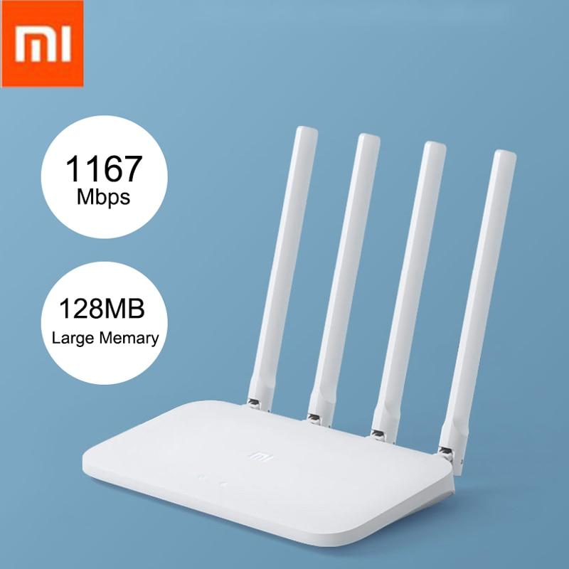 Xiaomi Mi вай фай роутер 4C 4A Wi Fi репитер APP Control 300/1200 Мбит / с 2,4G 5 ГГц для дома офиса высокоскоростные беспроводные маршрутизаторы большого радиус...