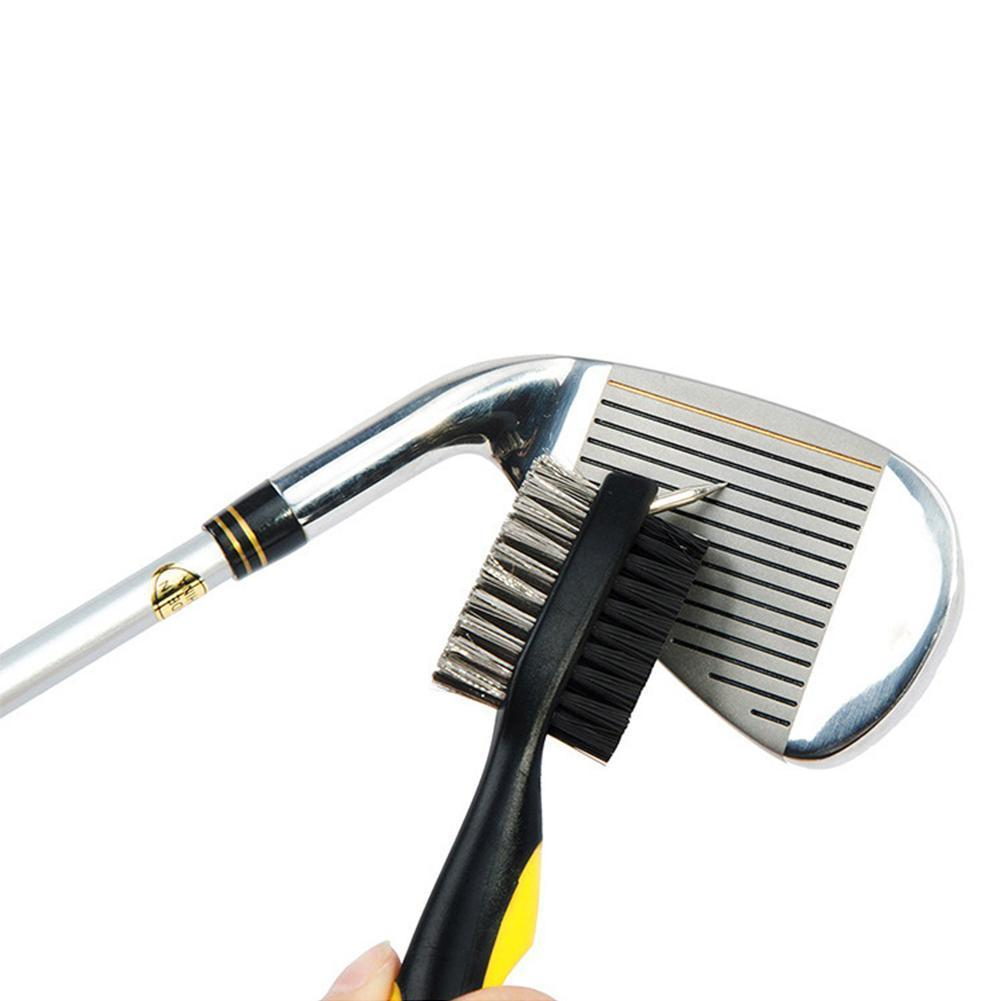 Golf Double-Sided Brush, Club Cleaning Brush, Golf Supplies Wedge Accessories Golf Putter Ball Tool