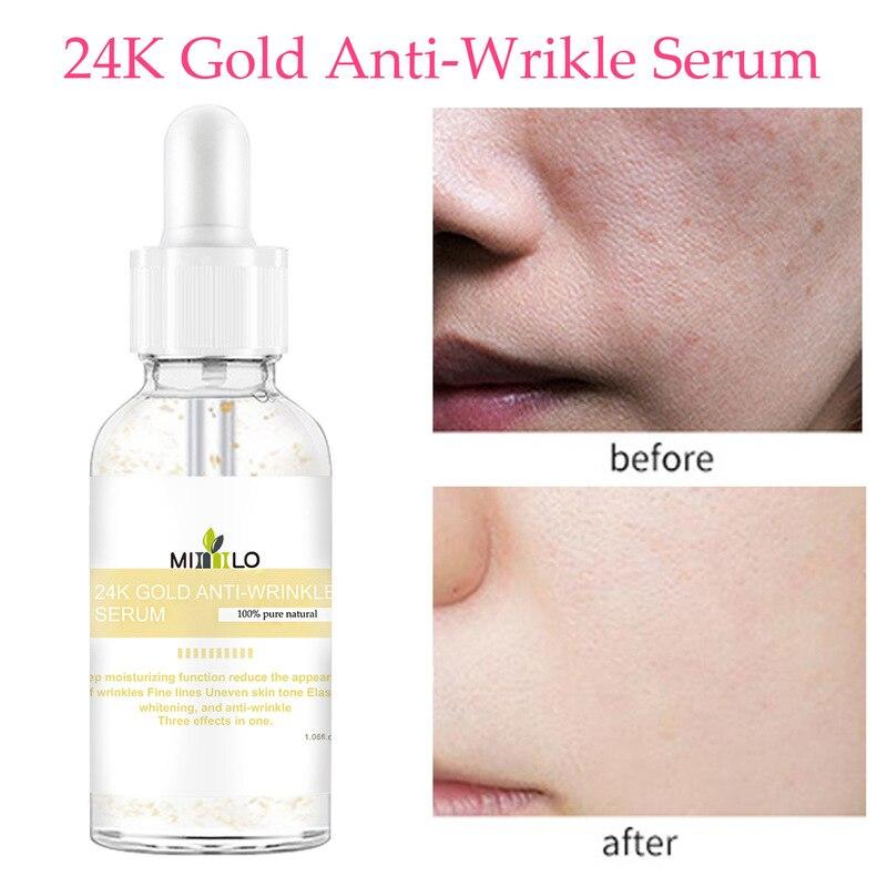 30ml 24K Gold Leaf Essence Serum Whitening Hydrating Deep Moisturizing Function Anti-Wrinkle Face Se