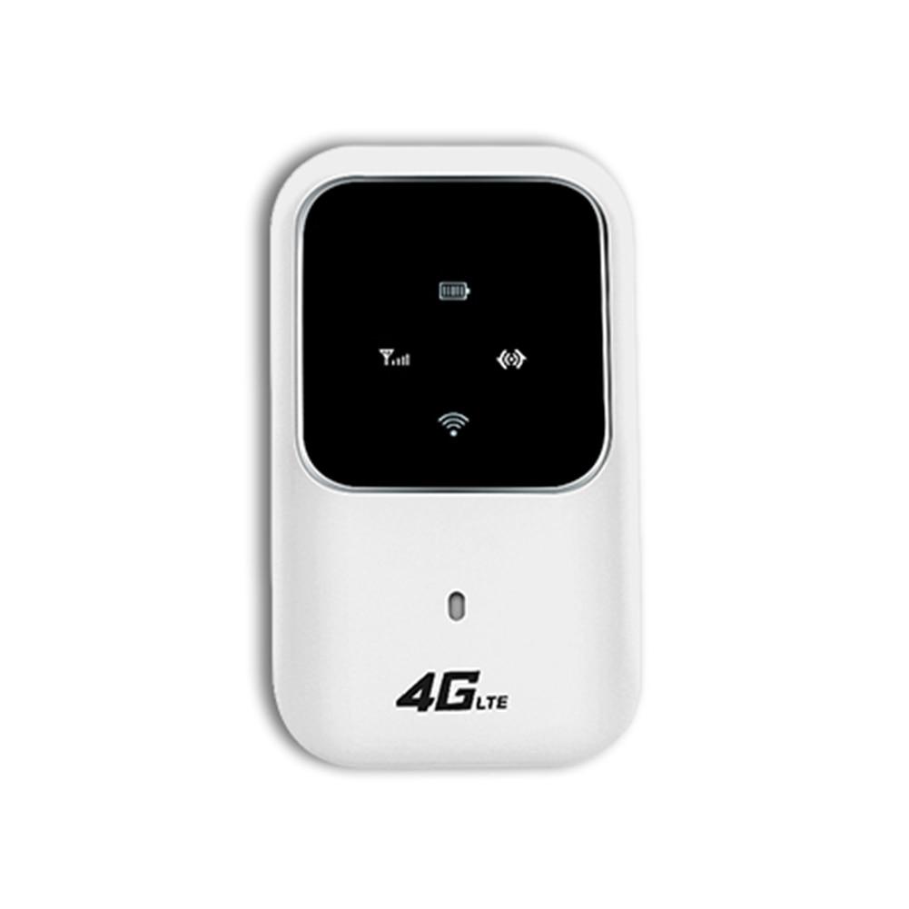 4G راوتر لاسلكي موبايل برودباند المحمولة واي فاي سيارة تقاسم جهاز سيم فتحة للبطاقات LTE MIFI هوت سبوت مودم 100Mbps