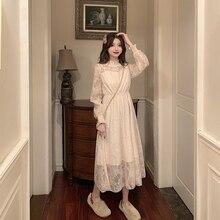 Longue robe femme automne et hiver 2020 nouveau Style blanc dentelle Super fée Mori série robe enfants printemps vêtements