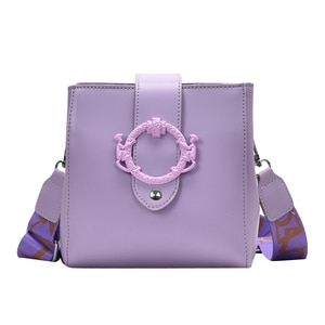 Fashion Simple Women Shoulder Bags Solid Bucket Bags Ladies PU Leather Messenger Pocket Cover Messenger Bag Casual Daily Bag.