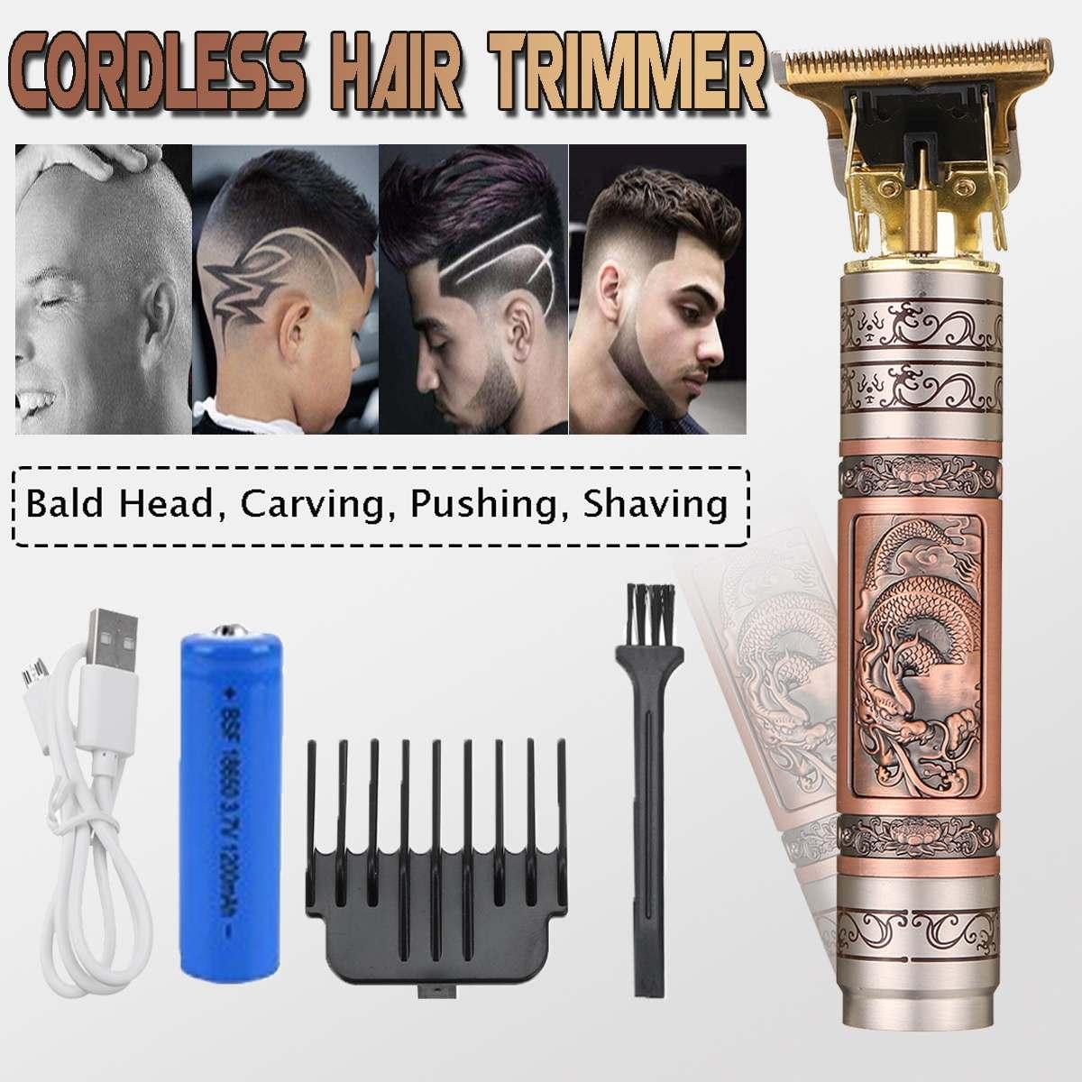 NEW Men Hair Clipper Trimmer Clipper T-Outliner Skeleton Hair Clipper Shaving Cordless Haircut Cutte