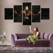 Peinture décorative de salon   Décoration de maison, toiles imprimées HD, 5 pièces de la ligue des légendes The of Doom fiddlestick