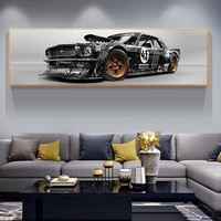 classic ford mustang rtr car posters sports car canvas paintings car pictures wall art for living room home decor