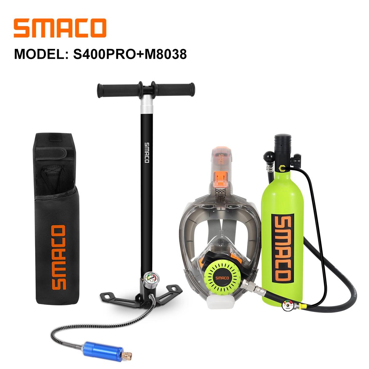SMACO S400Pro оборудование для подводного плавания маска для подводного плавания снаряжение для дайвинга мини кислородный баллон Подводное дыха...