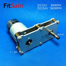 FitSain-high torque reduction gear box 775 motor DC12~24V 95~190 rpm alloy gear