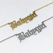 موضة رسالة الملاك الطفل الأميرة Babygirl القلائد المعلقات لوحة اسم مجوهرات الوردي الذهب زوجين القلائد أفضل صديق الهدايا
