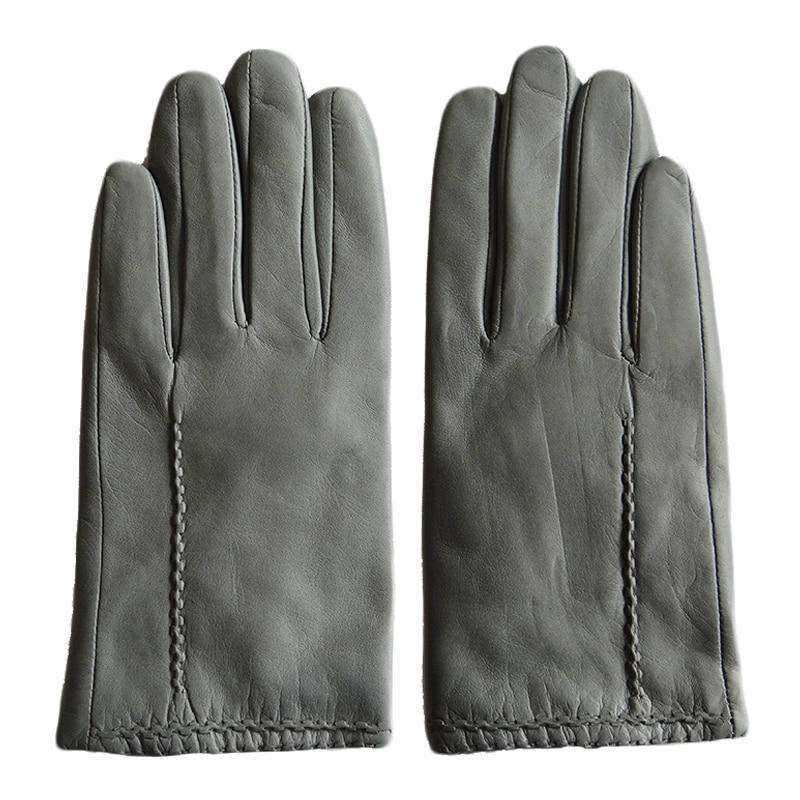 Женские зимние перчатки GOURS, серые перчатки из натуральной козьей кожи, со скидкой, 2019