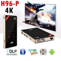 H96-P Mini 4K DLP Android 9 0 Projecteur WiFi Bluetooth 4 0 Exterieure portative Film Video Home Cinema Support Miracast Airplay
