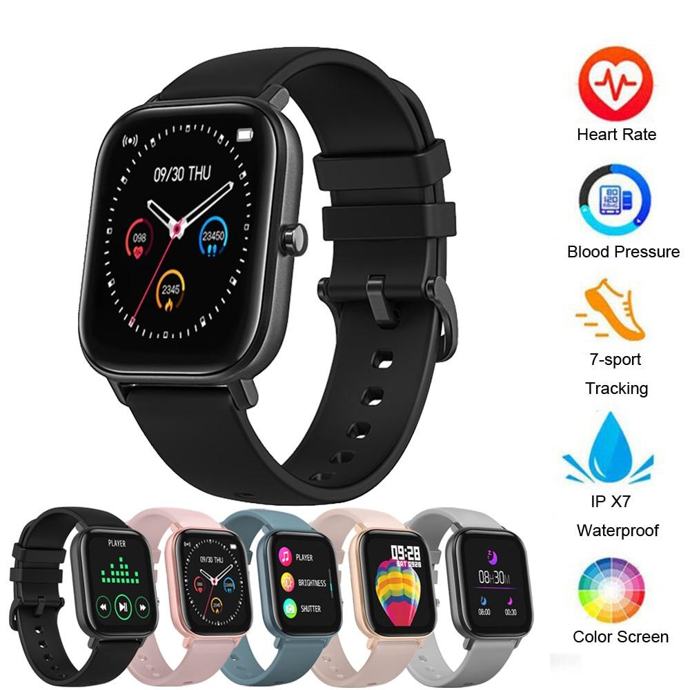 Inteligente para o Telefone Funções de Pressão Arterial para Mulher Esportes Relógio Fitness Freqüência Cardíaca Pulseira Inteligente Touch-screen Ipx7 Homem Miúdo p8