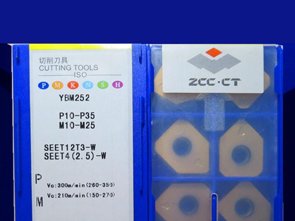 SEET12T3-W YBM252 caribde إدراج 10 قطعة