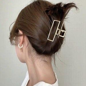Metal Clip Hairpin Large Clip Bath Hairpin Elegant Temperament Female Clip Back Headdress