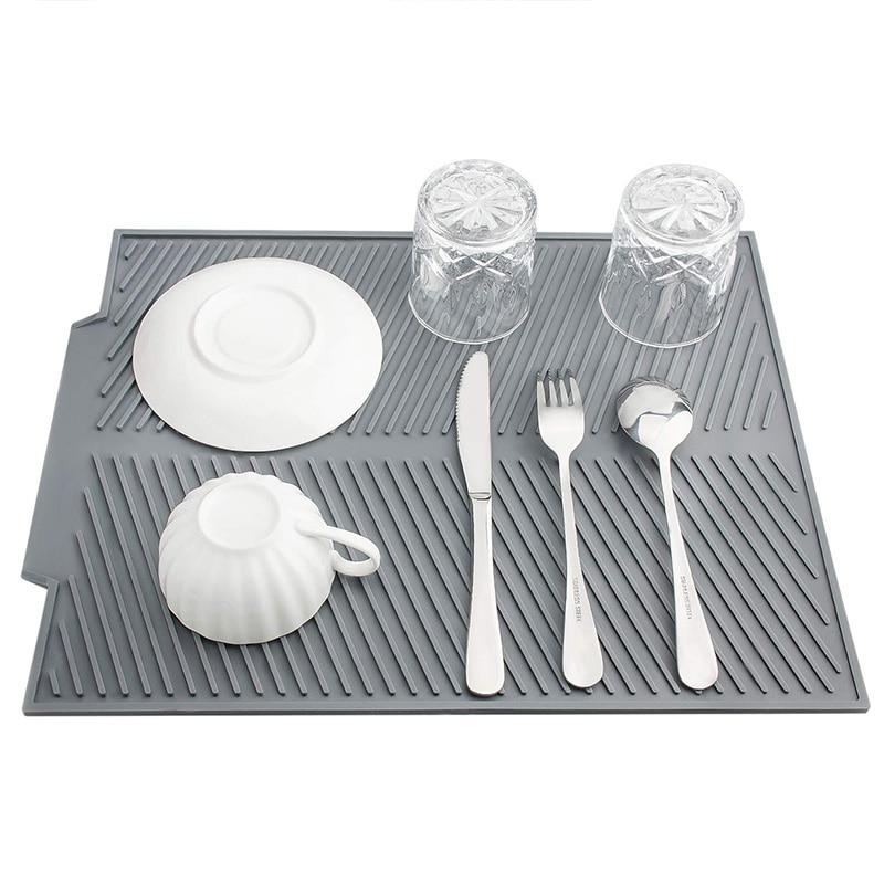 AliExpress - Silicon Dish Drain Mat Pad Kitchen Dish Drying Mat Draining Tableware Dishwaser Durable Cushion Pad Dinnerware Table Placemat