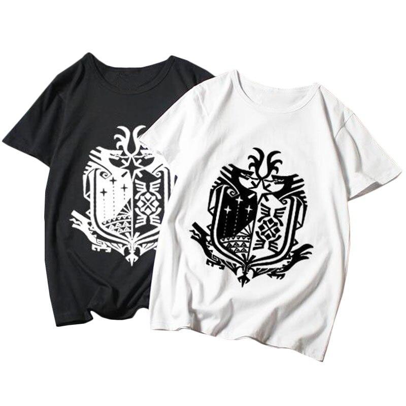 ¡Novedad de 2019! Camiseta de manga corta para hombre con dibujos animados de Monster Hunter World, camiseta de Anime para hombre