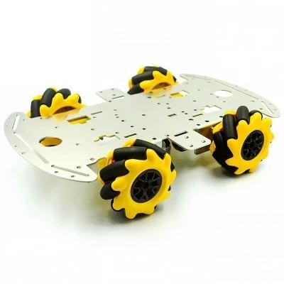 هيكل سيارة من الألومنيوم بعجلة من mcamum لتقوم بها بنفسك هيكل سيارة ذكي لتجنب العوائق يعمل بالموجات فوق الصوتية بهيكل دفع رباعي العجلات 4WD