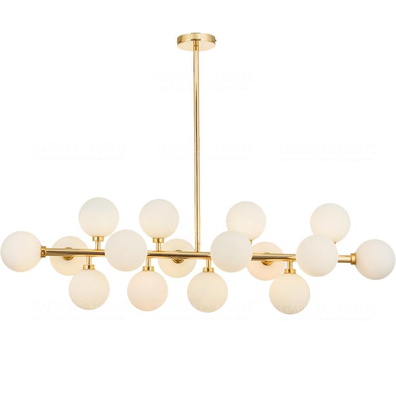 Nordic Simple Creativity Magic Bean Pendant Light Modern Gold/Black 16Heads Glass Lamp for Living Room Bedroom Foyer