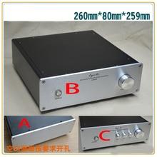 KYYSLB 260*80*259MM tout en aluminium amplificateur châssis X2608 bricolage boîtier amplificateur boîtier pré-scène amplificateur boîtier coque