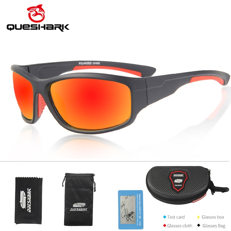Gafas de sol deportivas polarizadas QUESHARK para hombre y mujer, béisbol, Running, ciclismo, pesca, conducir, Golf, Softball, senderismo, gafas de sol