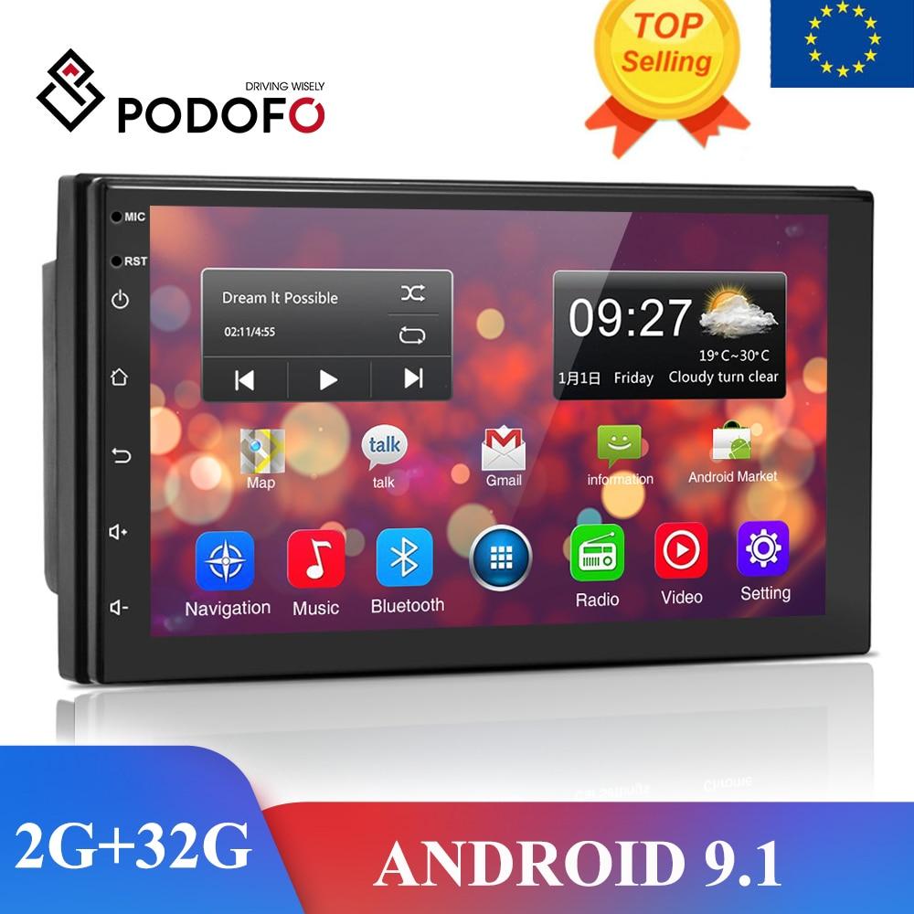 Podofo Android 8,1 2 Din coche Radio reproductor Multimedia Universal estéreo para coche GPS para Volkswagen Nissan Hyundai Kia toyota LADA