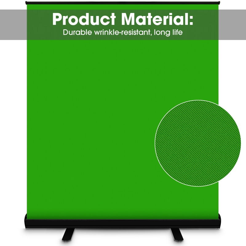 Chromakey Green Screen Portable Pull Up Photo Studio Polyester Cotton Photo Background With Stand For Virtual Scene Video Keying enlarge