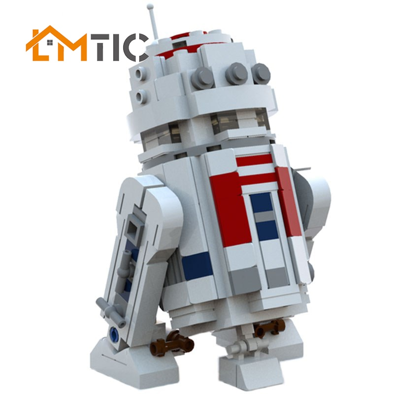 MOC 288 шт Мини Звездные серии войны R2 робот набор D2 из печати Diy строительные блоки, игрушки развивающие подарки на день рождения Рождество