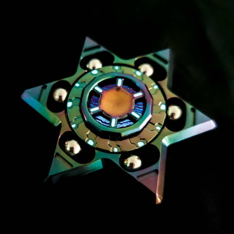 Upgrade Luminous Linkage Adult Stress Relief Toys Fingertip Gyro Broken enlarge