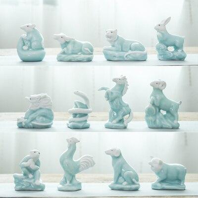 Zodiak ceramika urocze ozdoby konia wół owca królik świnia pies mysz smok wąż małpa i kurczak