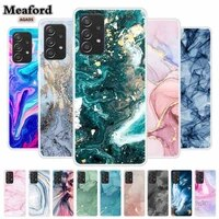 for samsung a52 case transparent tpu phone cover for samsung galaxy a52 5g case clear marble coques for samsung a52 a 52 2021