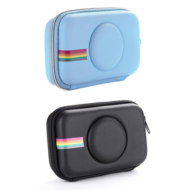 2 pces estojo para polaroid snap + snap pressione câmera digital de impressão instantânea, azul & preto