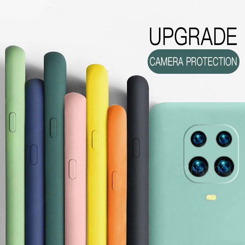 Жидкий силиконовый чехол для Xiaomi POCO X3 Pro M3 F3 X3 GT 10T Redmi Note 10 Pro 8 9A 9T мягкий чехол для Redmi Note 9 Pro | Мобильные телефоны и аксессуары | АлиЭкспресс