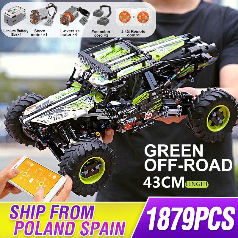 Mould King-Camión de escalada todoterreno para niños, Buggy, bloques de construcción de...