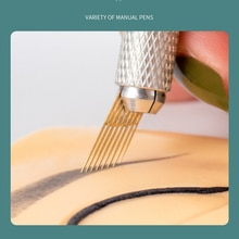 10pcs New Product Microblading Accessories Tattoo Needles 15pins Disposable Blade for Permanent Make
