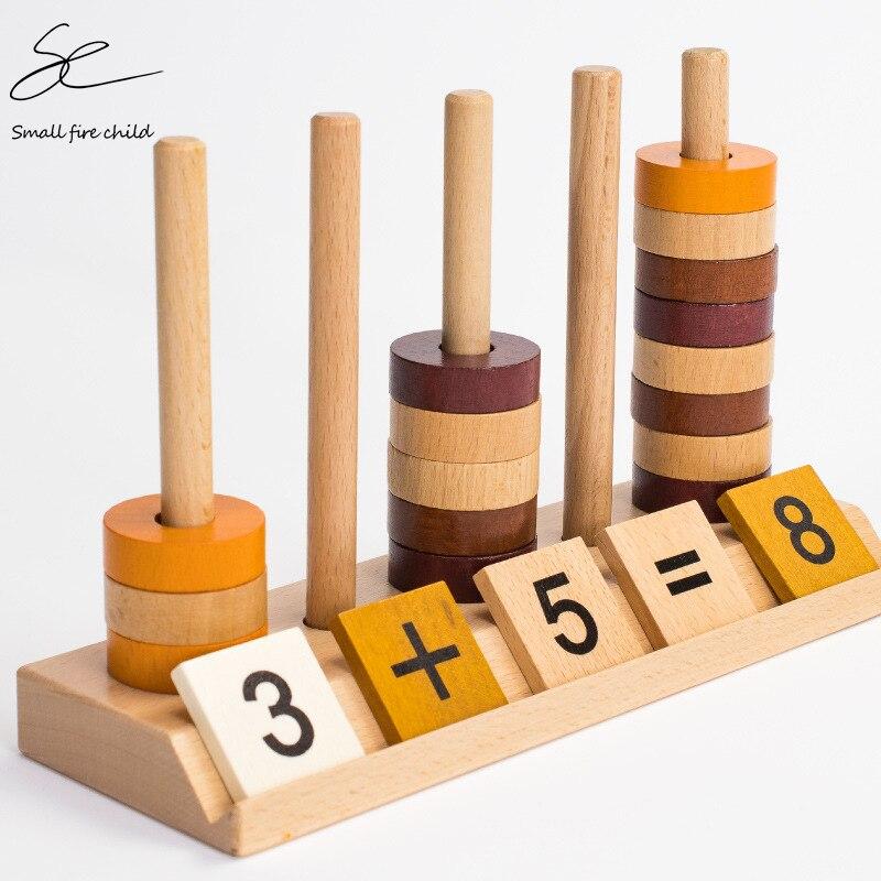 Juguete aritmético de madera Montessori, juego educativo de aprendizaje preescolar para niños de 1-3-6 años