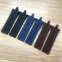 brand 26mm22mm blue brown black silicone rubber watchband fit for porsche design p6360 watch accessories strap belt bracelet