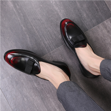 2021 Autumn New Young Men's Small Leather Shoes Pointed Toe Shoes Peas Shoes Wild Nightclub Hair Sty