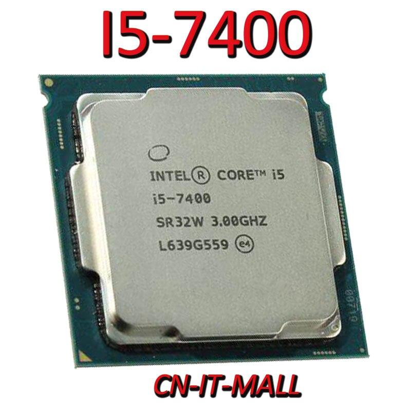 Pulled I5-7400 CPU 3.0G 6M 4 Core 4 Thread LGA1151 Processor