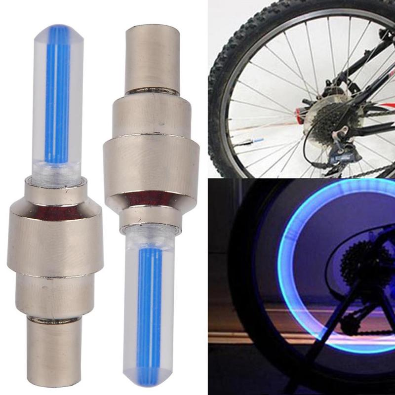 2 sztuk/zestaw zawór rowerowy światła MTB Bike LED światła zawór opony Cap Flash Ligh kolarstwo latarnia lampa akcesoria rowerowe GM