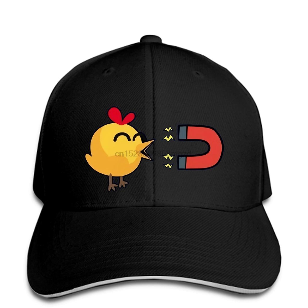 Boné de beisebol snapback chapéu feminino boné de beisebol dos homens da criança dos miúdos bonitos engraçados do presente do chuveiro do ímã do pintainho