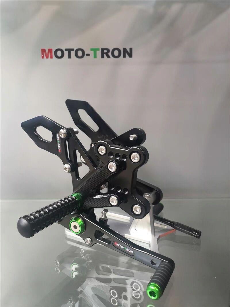 MOTO-TRON دراجة نارية نك تعديل الخلفية مجموعة ريرسيتس مسند القدم بقية القدم لكاواساكي H2SX SE 2018-2019-2020