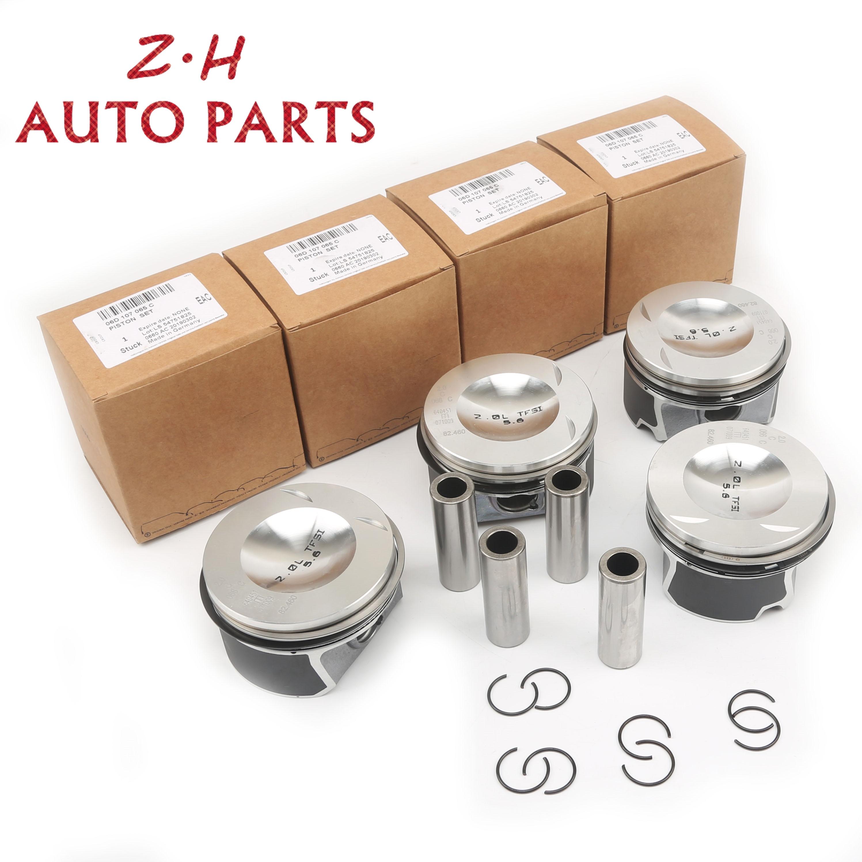 جديد محرك بيستونز و خواتم مجموعة 20 مللي متر ل VW Golf GTI باسات EOS أودي A3 A4 A6 TT S4 S6 TTS كوبيه 2.0 TFSI BPY BWA 06D 107 066 AA