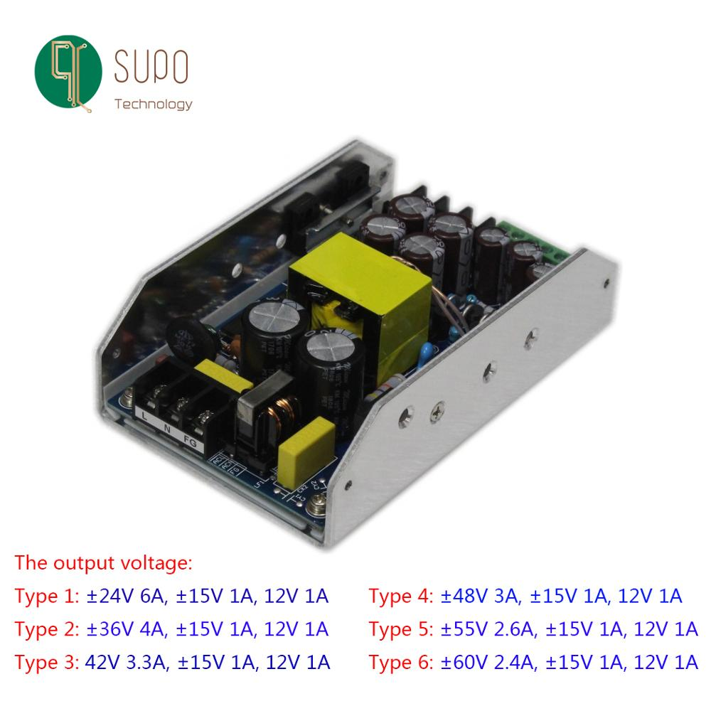 Fonte de alimentação do amplificador 300w cinco-way positivo e negativo 24v30v36v42v48v55v60v15v12v