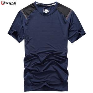 WWKK Newest Running Shirt Men Bodybuilding Sport T-shirt Short Sleeve Compression Top Gym T Shirt Men Fitness Training