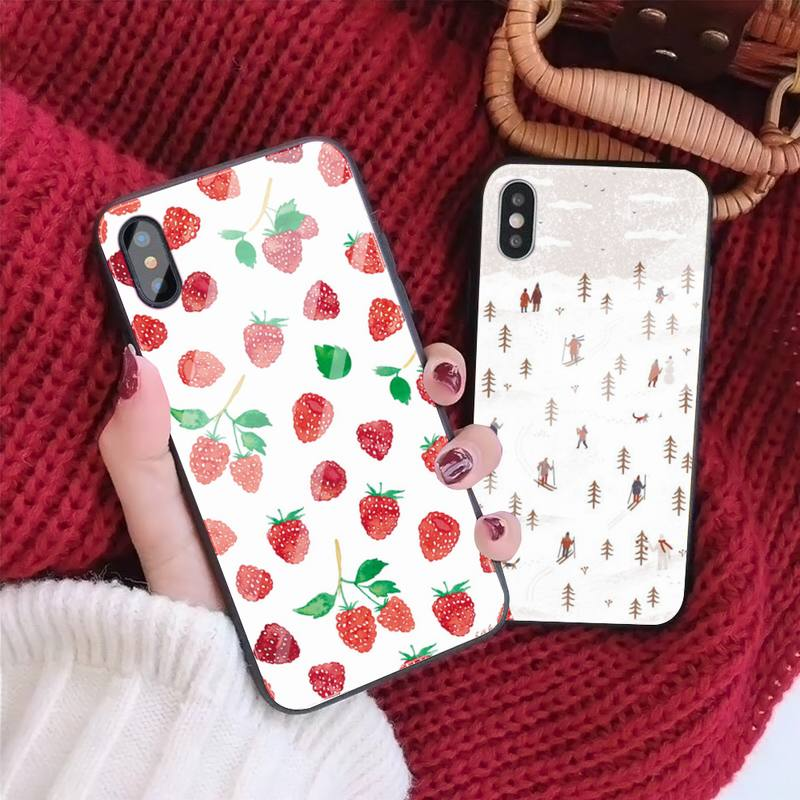 Some Pretty Thing Phone Case case For Iphone 11 Pro MAX XR X 7 8Plus SE2020 DIY Shockproof Glass Soft Silicone Edge