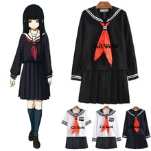 S-XXL Jigoku Shoujo Enma Ai été marin costume école uniforme étudiants tissu hauts jupes Anime Cosplay Costumes